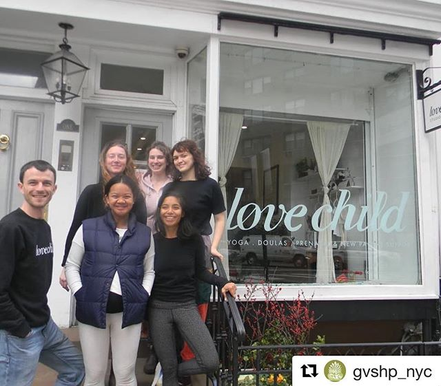 Thank you @gvshp_nyc for naming us January Business of the month! 💚 and to Harry's opportune timing to be able to get all of us together in a pic 🤗 link to the article in bio . #Repost @gvshp_nyc with @get_repost ・・・ Congrats! From their birth as a pop-up yoga speakeasy downstairs at 1 Horatio Street, Love Child has grown up to be a one-of-a-kind model for holistic support from preconception to pregnancy, postpartum and beyond.  They are much more than a yoga studio and they are our January Business of the Month – read all about them at bit.ly/lovechildbom  #businessofthemonth #shoplocal #lovechild #horatiostreet #GreenwichVillage