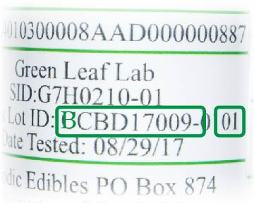 CBD Canna-Butter Process Lot ID