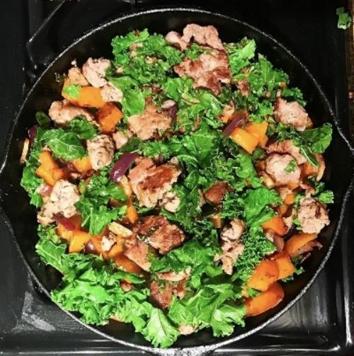 Turkey, Butternut, Kale Hash -