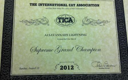 2012 Supreme Grand Champion