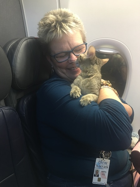 SBT Maggie getting to fly home with mom