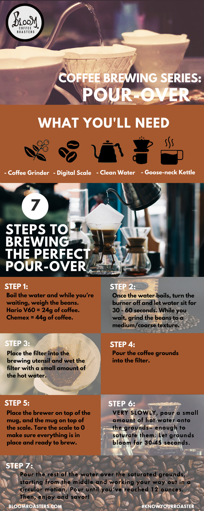 Pour-Over Brewing Infographic