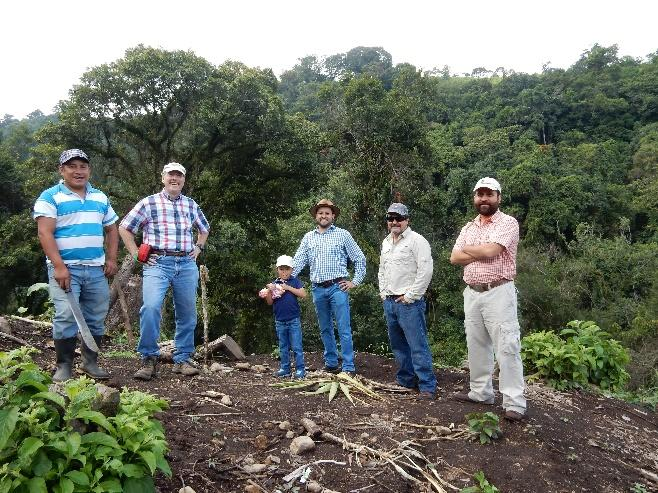 Brothers Erick and Herman, and others, from the La Esperanza Coffee Farm in the Acatenango region in Guatemala where the Bloom Coffee Roasters portion of this blend comes from.