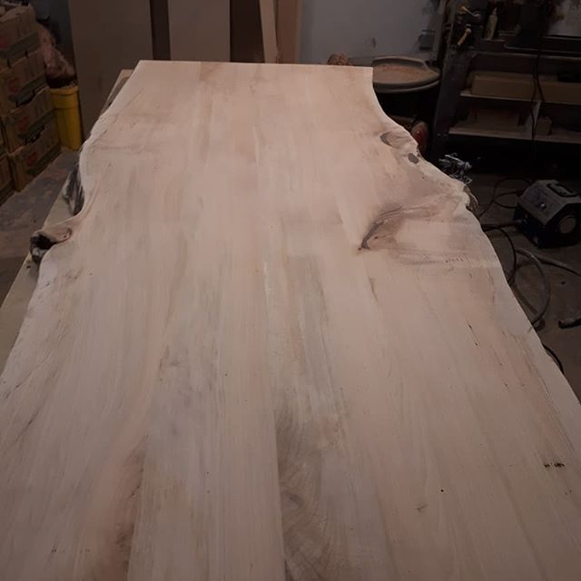 All sanded and ready to go. The beauty of our live edge is in the profile details! And every table is unique, just like every tree in the forest.
