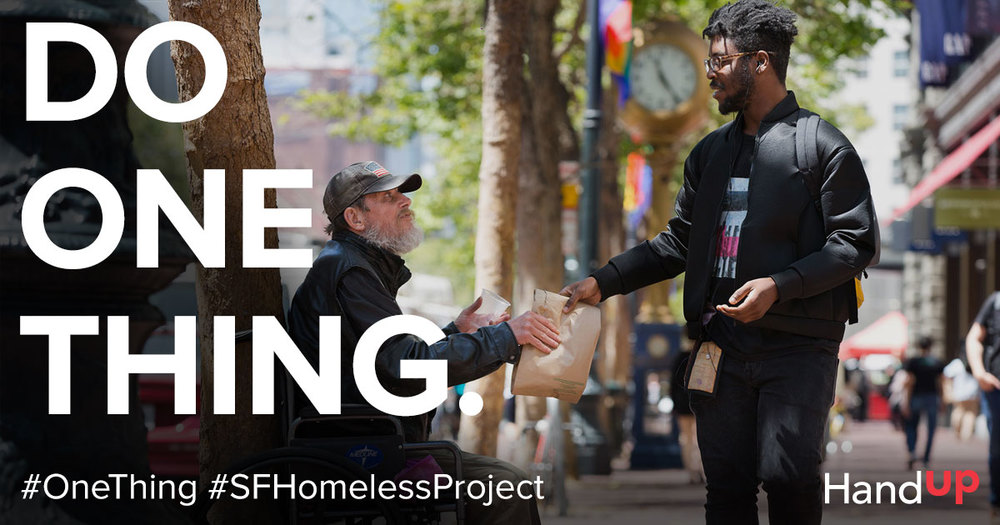 #OneThing #SFHomelessProject Facebook Banner
