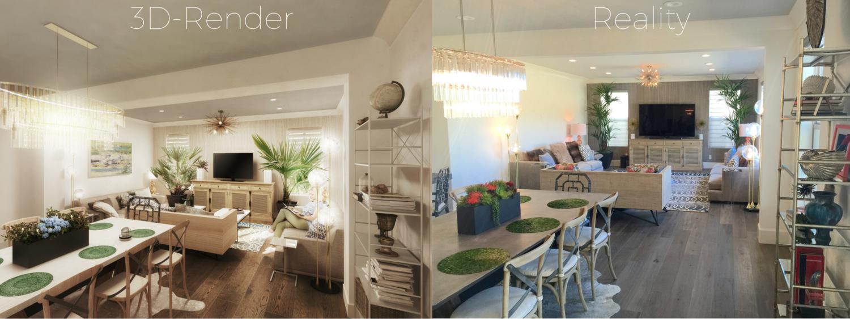 Interior decorator orange county - 3d Render Png