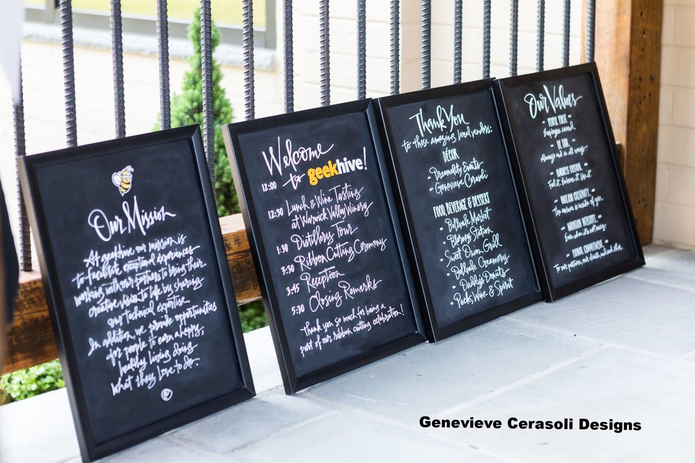 Custom Signs by  Genevieve Cerasoli Designs