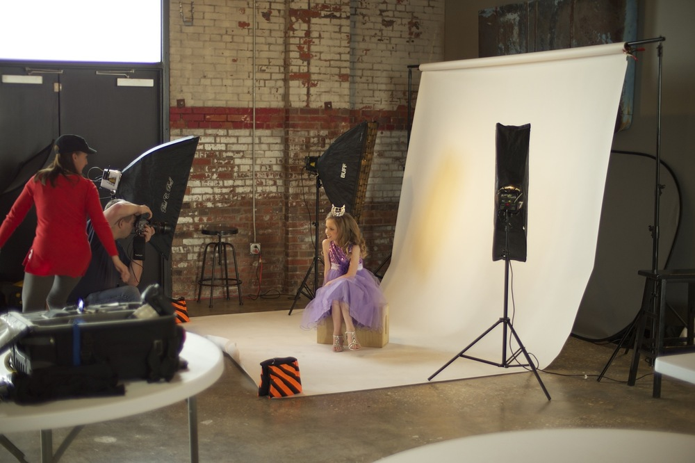 Photo shoot for a young beauty pageant participant