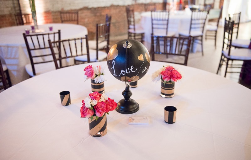 Table design at Studio 215 wedding venue