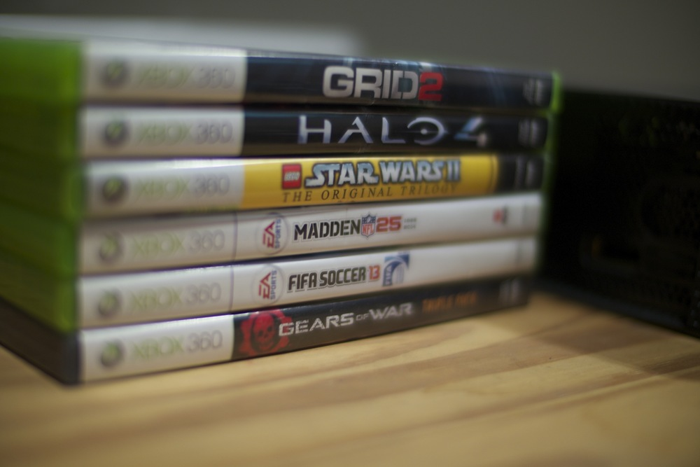 Picture of our games for Xbox 360.