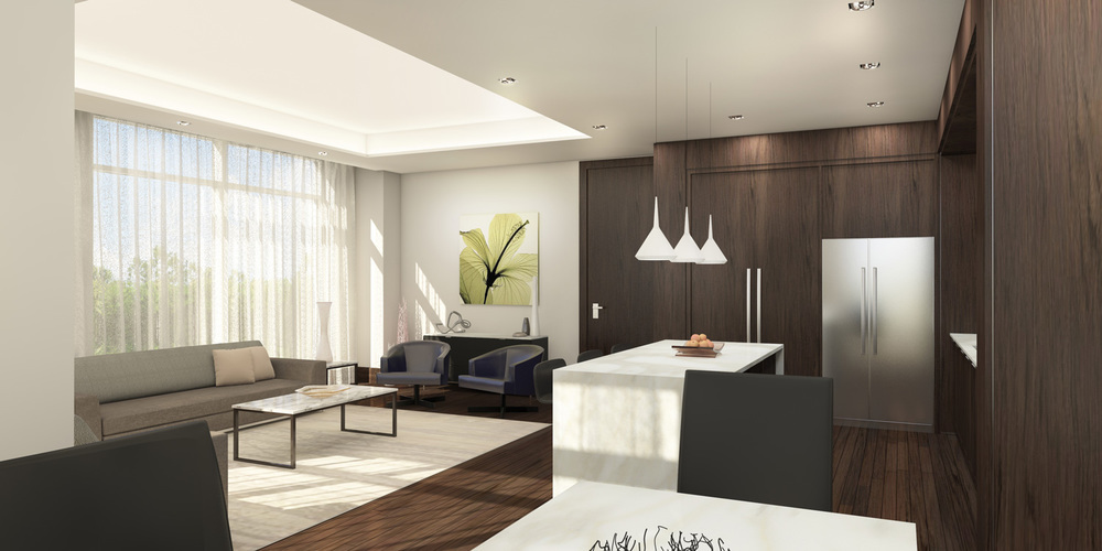 Interior Condominium Party Room