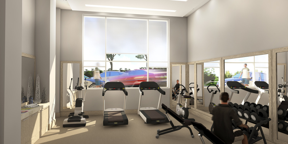 Interior Condominium Fitness Room