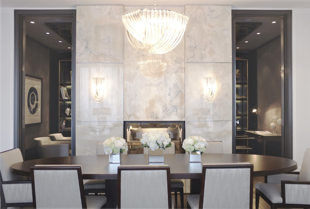 Toronto Penthouse Model Suite Dining Room