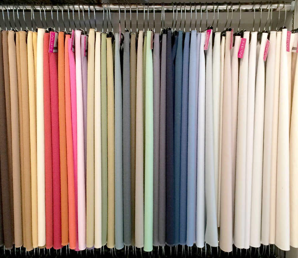 Fabrics in all the colours of the rainbow