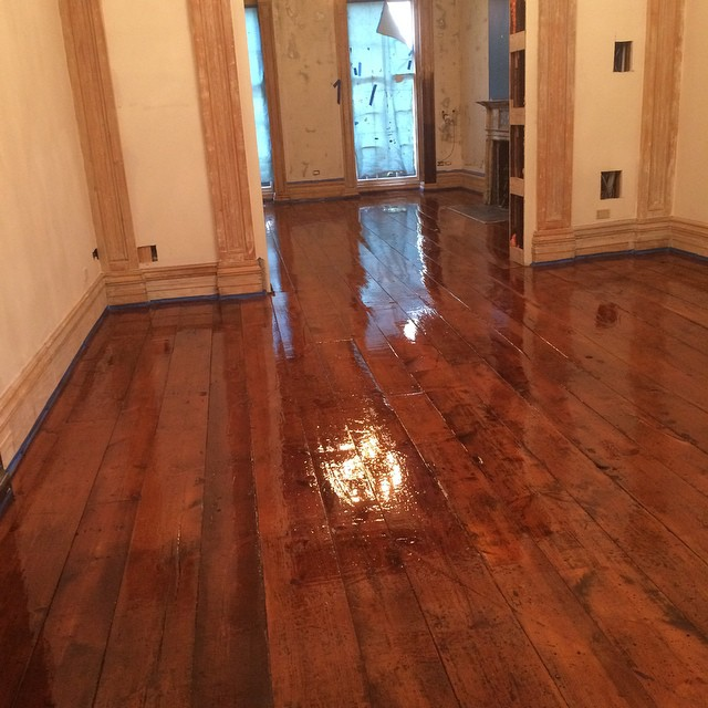 Original waverly place floor 150+ years old. Hand stripped hand sanded hand finished #furniture #elledecor #luxuryfurniture #luxe #highend #livingroom #bedroom #mansion #architecturaldigest #newhouse #fashion #interior #interiordesign #decor #interiordesigner #home #architecture #nymade #madeinus #customfloors #hardwoodfloors #antiquehome