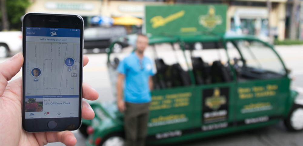EASIER THAN EVER Just download our free app, select your pickup and dropoff locations, and you're off!