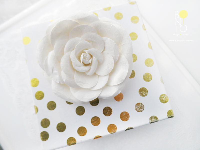Dec. 4  GIFT STYLING IDEA: Get a Pretty Box and add a bow or a flower like we have here.