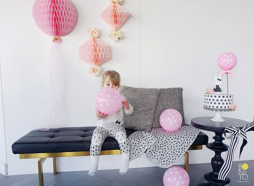 Here are some extra images from the beautiful styled   Birthday  , inspired by   Rosie Pope Baby Clothing Collection    .   The Bunny Design on her collection inspired us to create a   Modern & Feminine Birthday Brunch seen on Rosie Pope's blog  .