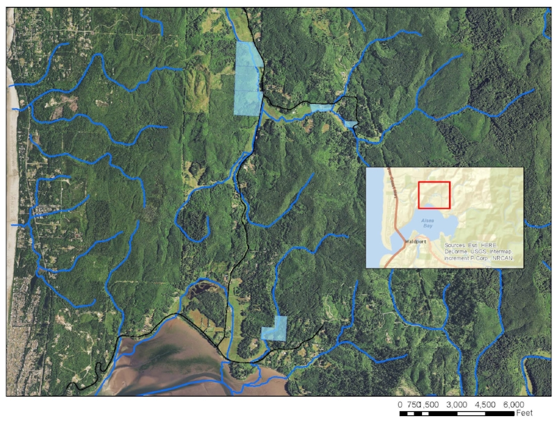 Phase I landowner properties are shaded in blue. If you have property on the creek in the area and are interested in joining the project let us know!