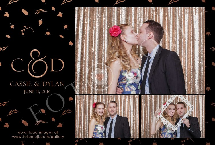 Rose Gold Foliage — Calgary Photo Booth | FOTOMOJI Booth Co. — Templates