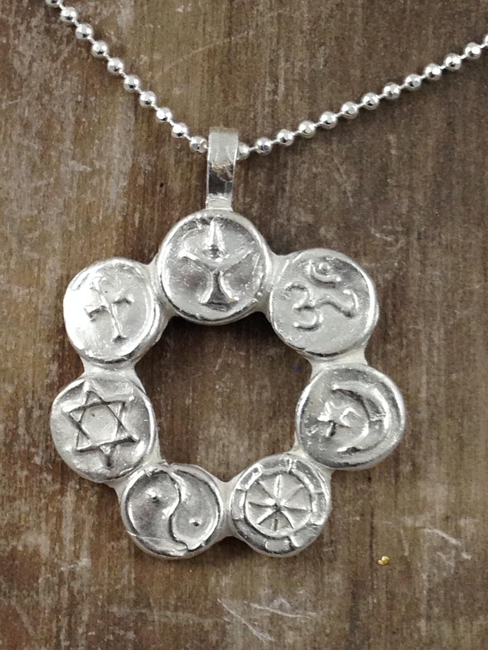 Coexist pendant necklace renzianni designs aloadofball Gallery