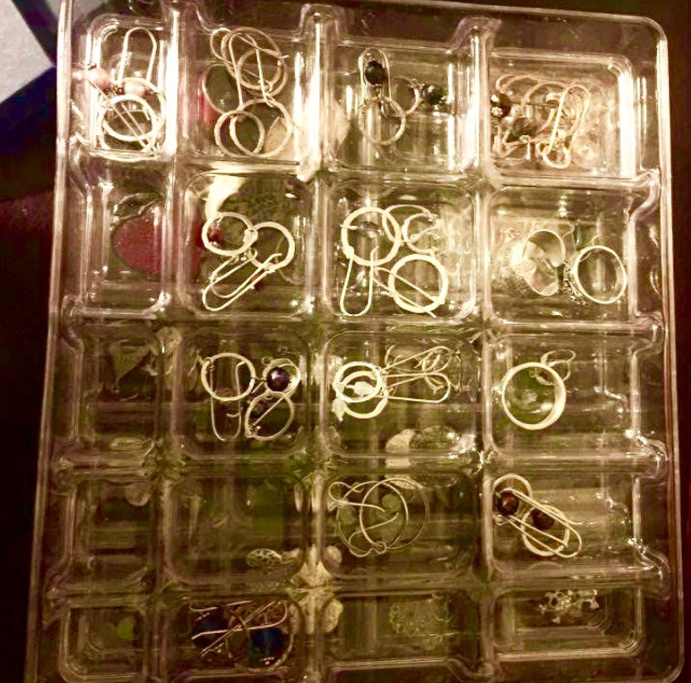 Nicole's jewelry box full of my earrings 💕