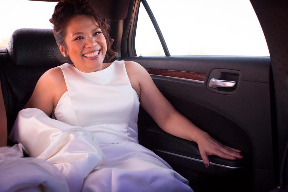 Limo Wedding Photo