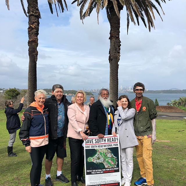 Thanks so much to everyone who came to our Word Up event this morning braving the rain and clouds that did actually clear in time. We will be posting photos and video from the event in the next day or so but here's one for starters. #savesouthhead #saveournationalparks #justsaynogabrielleupton @drkerrynphelps @liciaheath_independt4wentworth @greensforwentworth (Dominic Wy Kanak) @sdh0691 (Shane Higson) @kadootours
