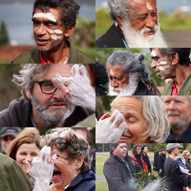 Thanks so much to Tim Ella and Grant Hyde of @kadootours who gave up their Sunday morning to come to Gap Bluff to perform a cleansing smoking ceremony to support the next phase of our campaign. #justsaynogabrielleupton #savesouthhead #saveournationalparks