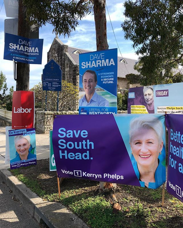 Good luck to all the candidates who have supported our campaign. #savesouthhead gets a mention at The Gunya voting booth at Watsons Bay. #justsaynogabrielleupton