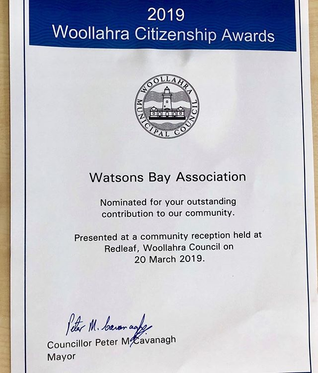 Congrats to everyone who helped on this five year campaign to #savesouthhead. We have won a community award from Woollahra Council. Don't forget to ask your local election candidate how they can help secure a National Heritage listing for South Head, to keep it a parkland for all.