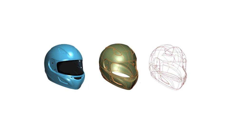그림 2. 3D 모델링 (Surface) 사례       그림 3. 도면 수정 및 금형 가공 (양산 준비)