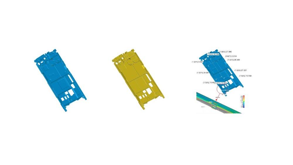 그림 4. CAD 데이터             그림 5. 3D 스캔 데이터           그림 6. 3D 경향 분석사례