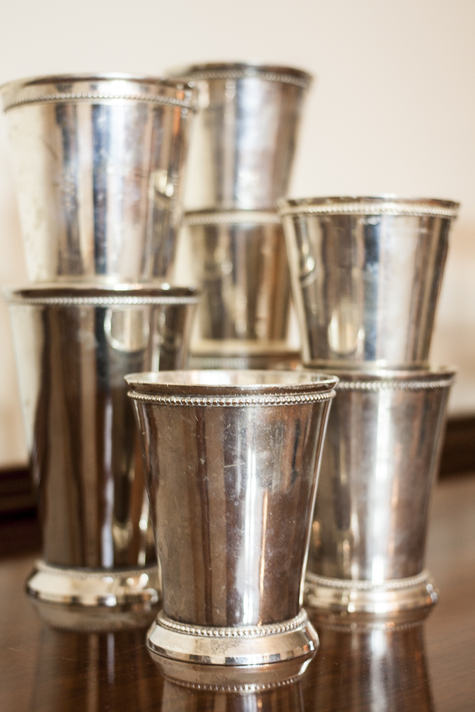 SILVER JULEP VASES