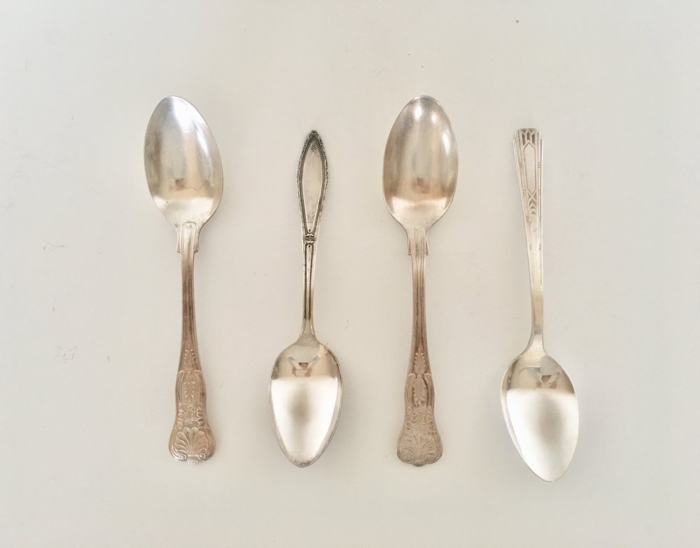 SILVER SERVING SPOONS