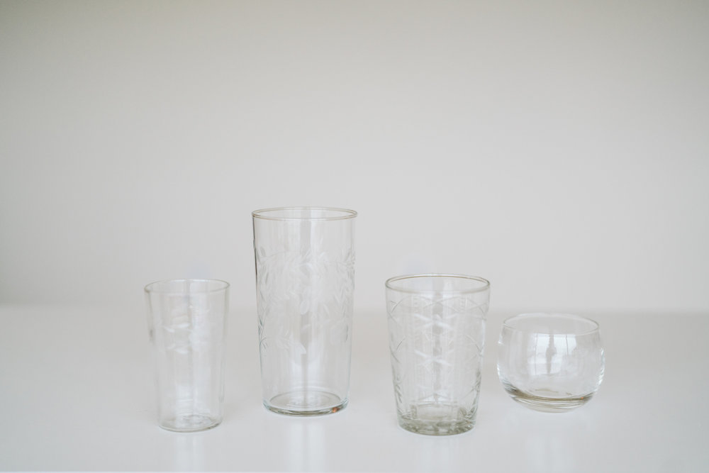 ETCHED GLASS VOTIVE HOLDERS