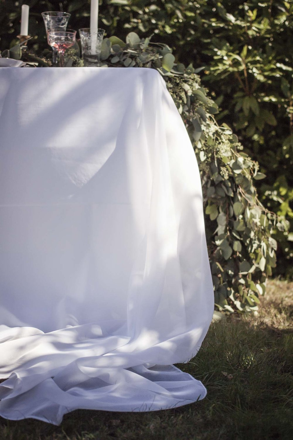 WHITE SHEER VOILE OVERLAYS