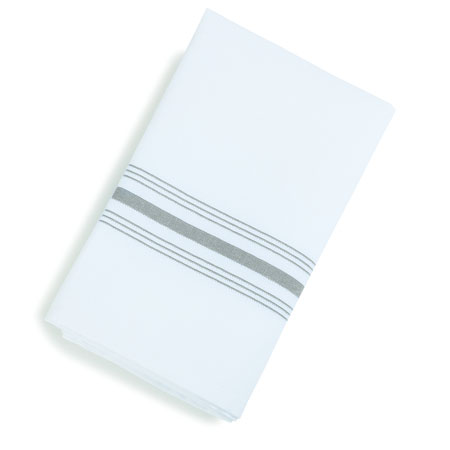 GRAY STRIPE BISTRO NAPKINS