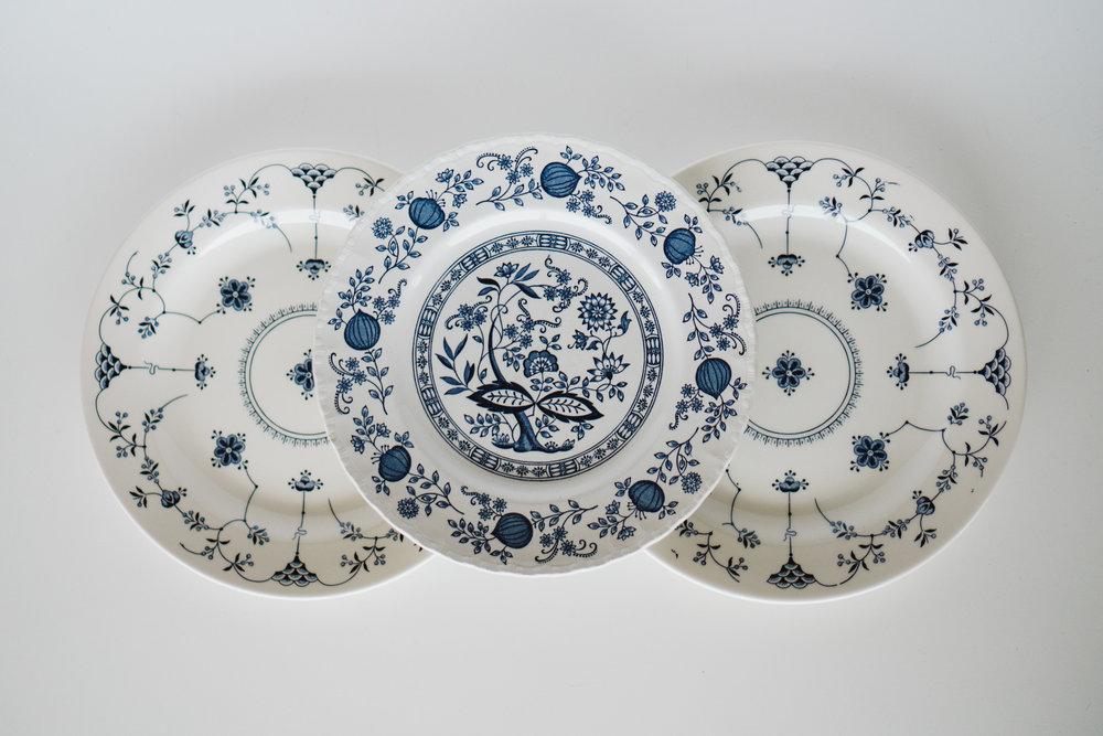 BLUE & WHITE DINNER PLATES