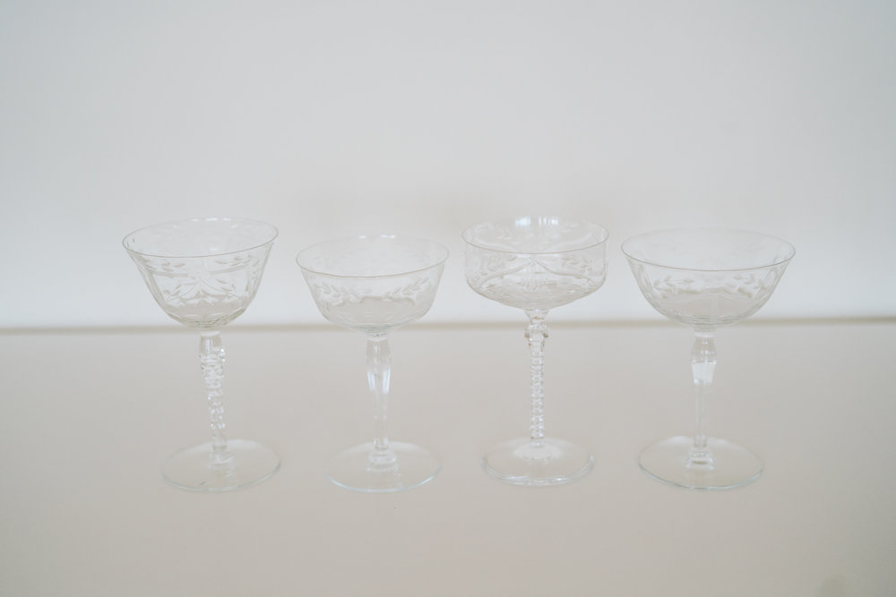 ETCHED CRYSTAL COUPES
