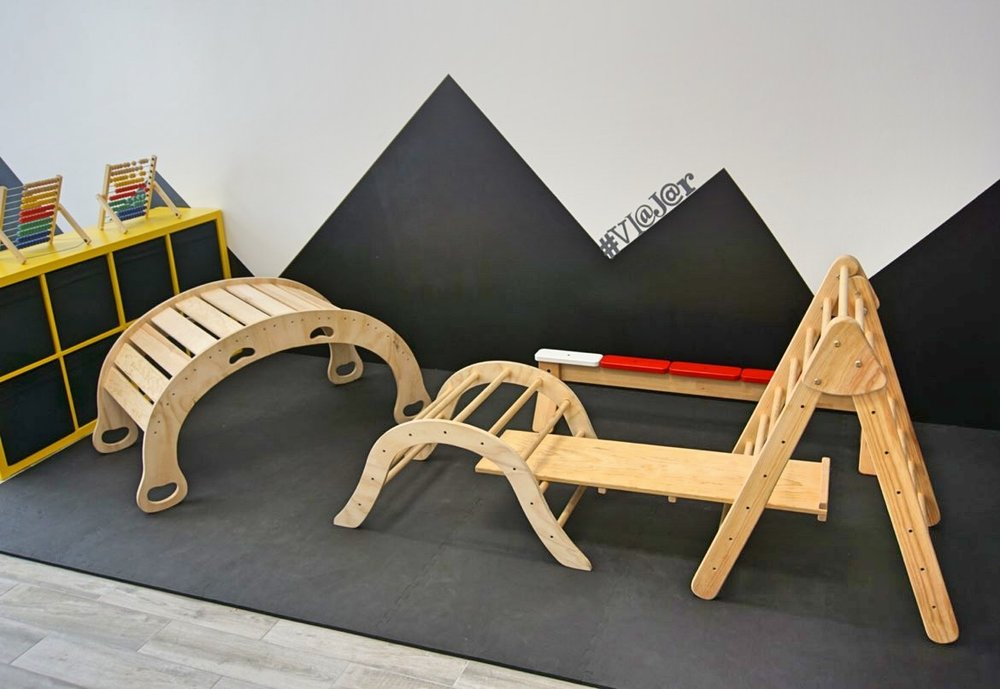 play structures in the open play area