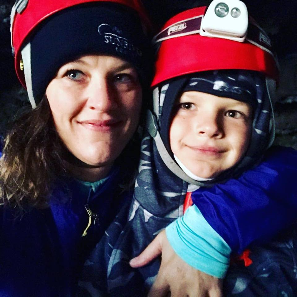 Wendy and Son in Cave - Photo Credit: Wendy Altschuler