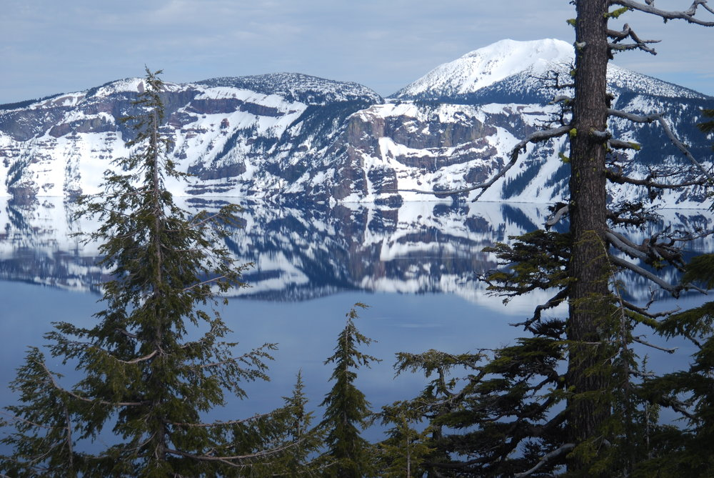 Snowshoeing at Crater Lake