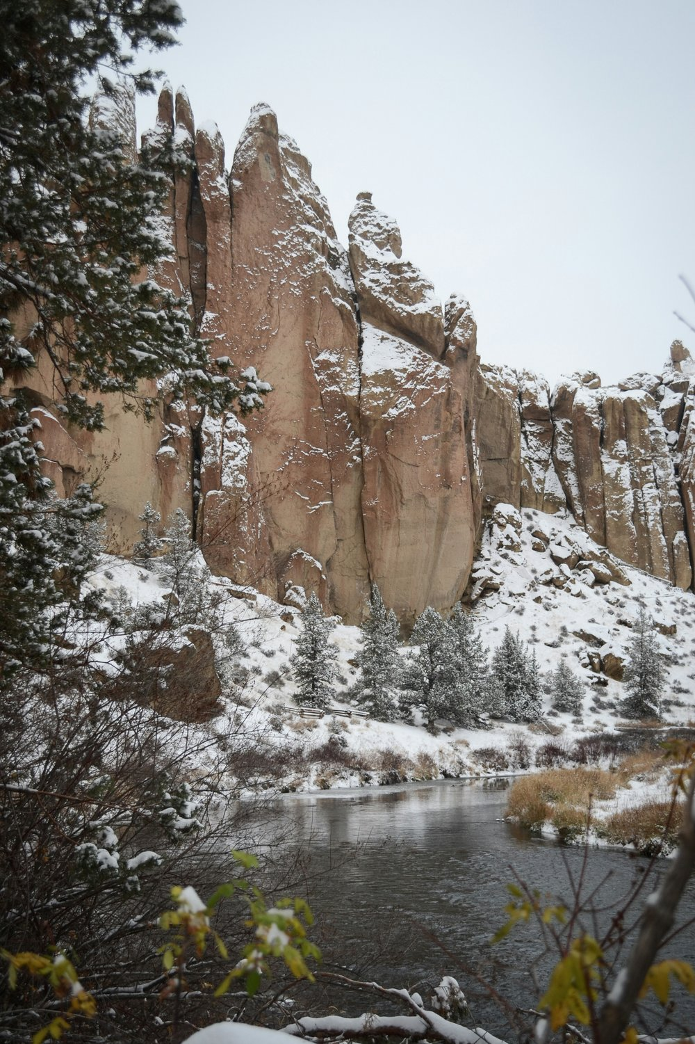 Smith Rock in the Snow