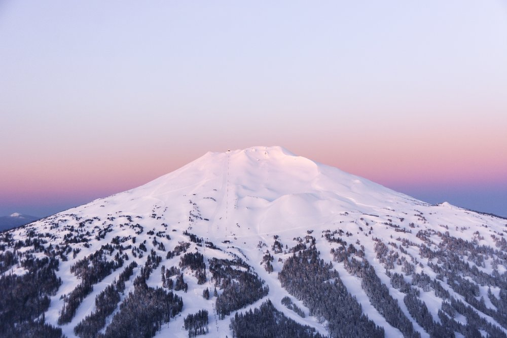 Mt. Bachelor Covered in Snow