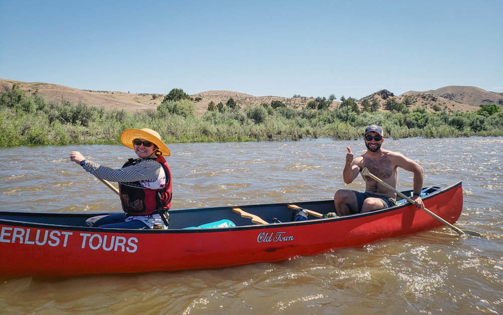 Naturalist Guides Julie and Jared make a great paddling team!