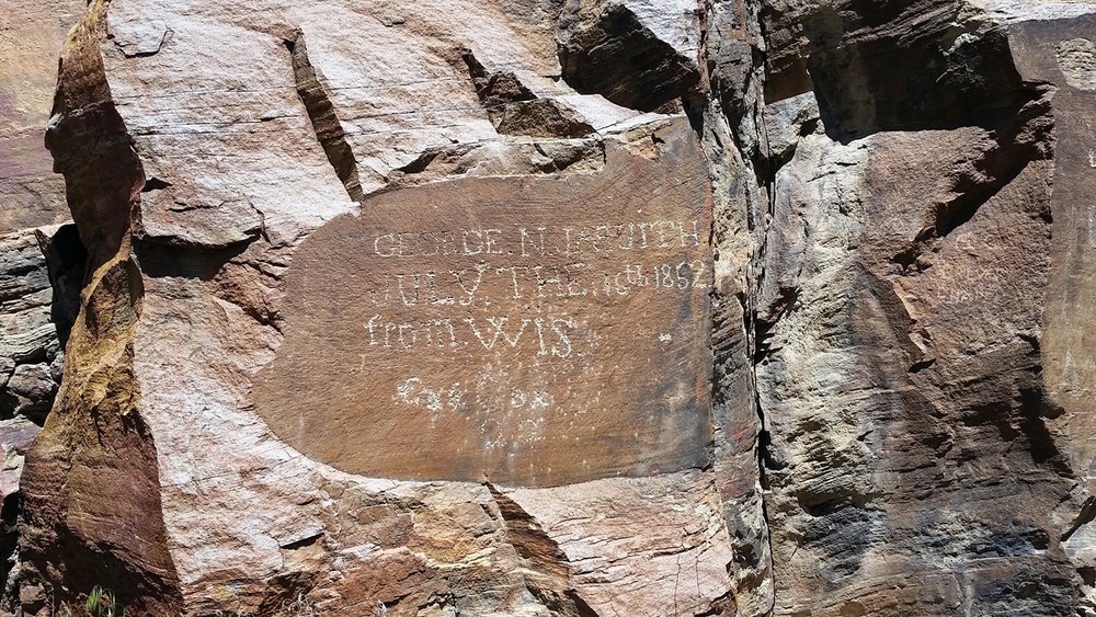 Inscription from an early pioneer