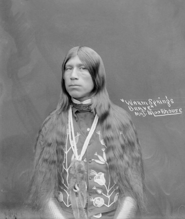 Photograph of a Warm Springs Brave, from the    Smithsonian Museum