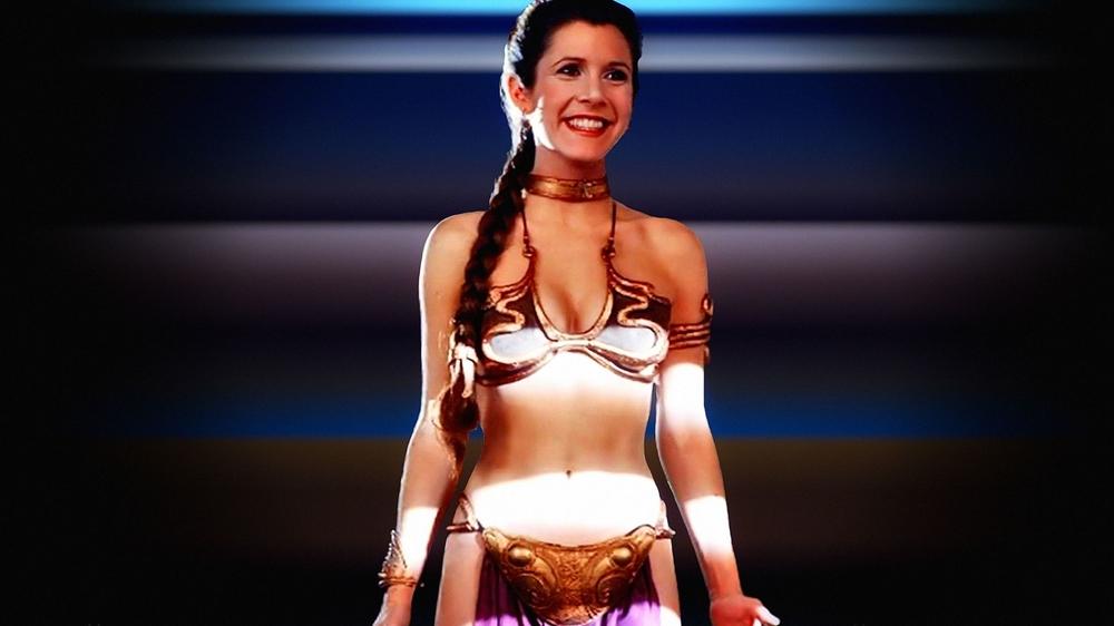 Princess leia golden bikini contest