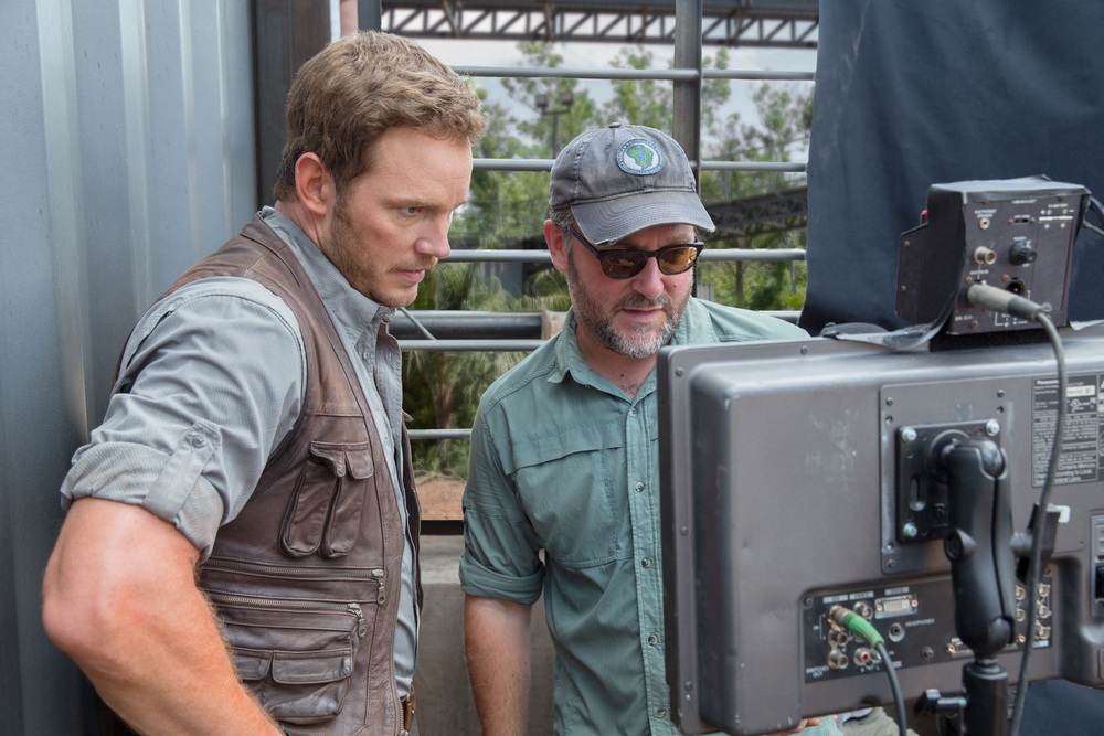 Chris Pratt with Colin Trevorrow